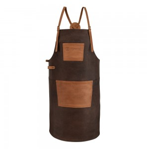 Buffalo Leather Apron with cross back straps